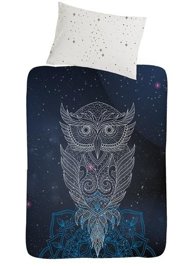 home-bath Ranforce Tek Kişilik Nevresim Seti Owl Renkli